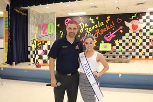Miss Texas and principal