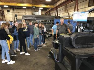 Otsego students tour Sebright in Wayland