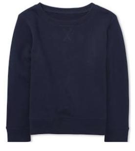 navy blue crewneck sweatshirt