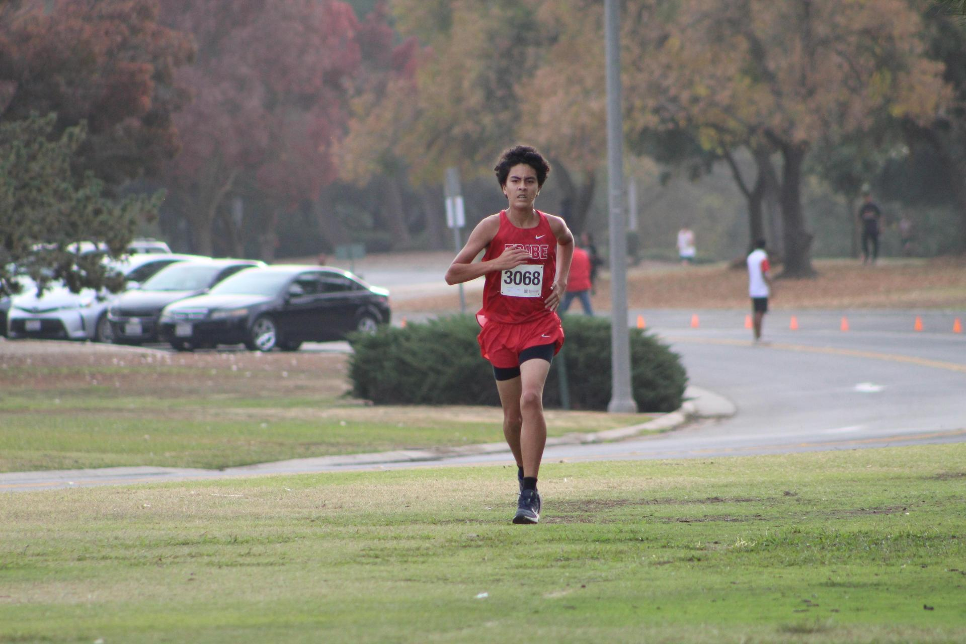 Nicholas Lopez finishing