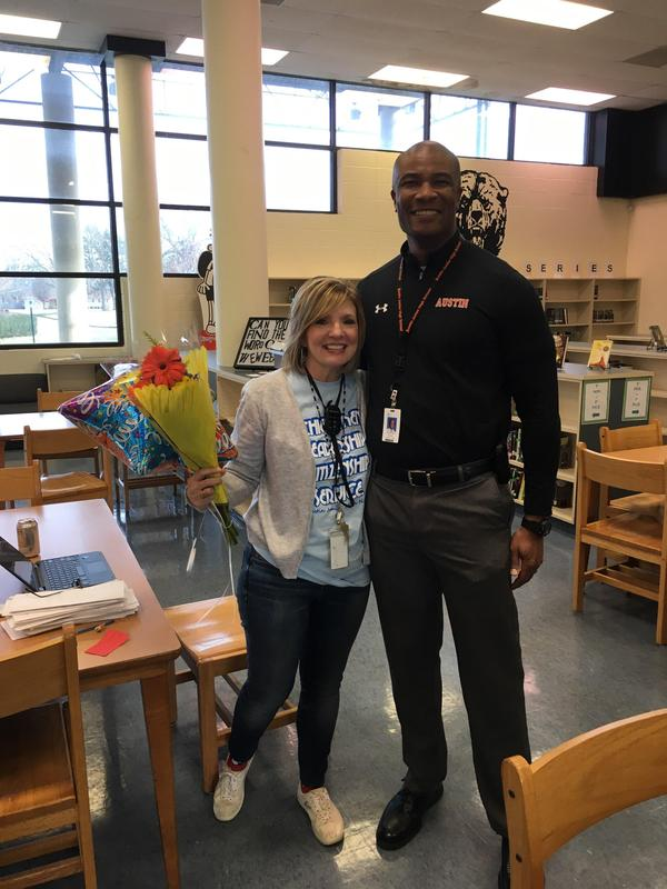 Mrs. Holly Donham is our Teacher of the Year for 2019-20.