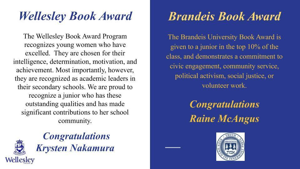 Wellesley & Brandeis Book Awards