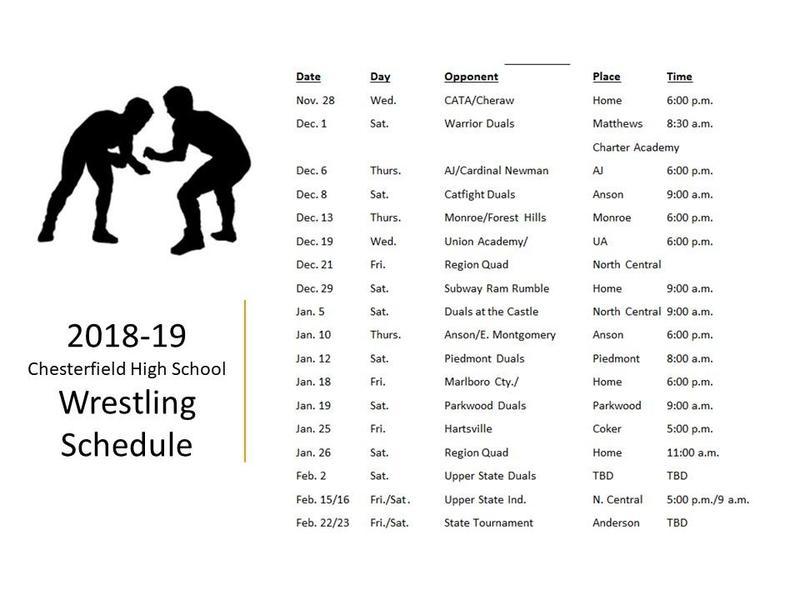 Wrestling Schedule Featured Photo