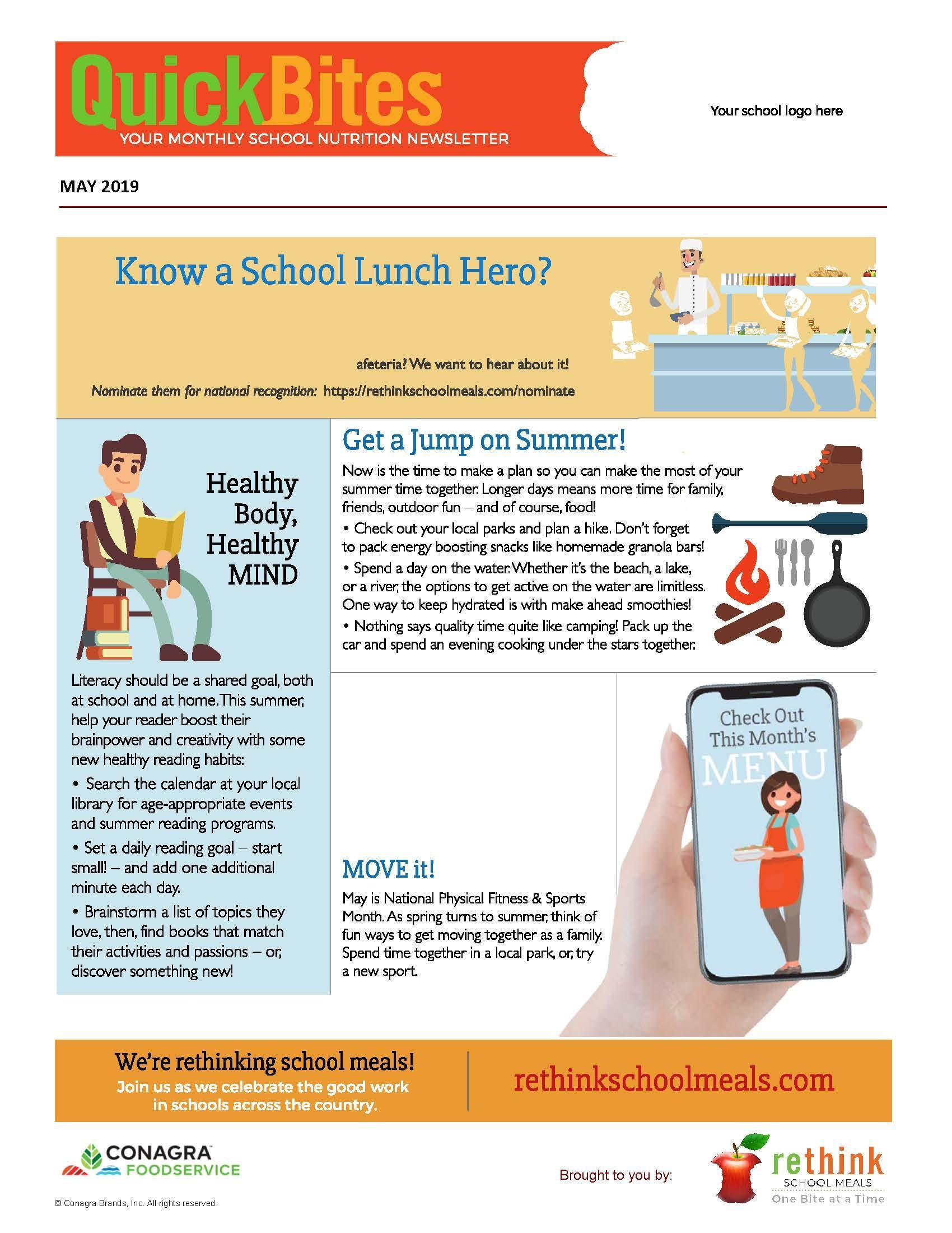 Monthly School Nutrition Newletter