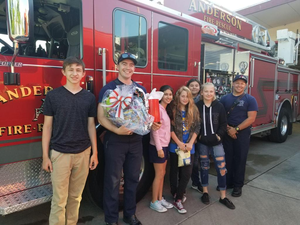 Students bring gifts to AFD
