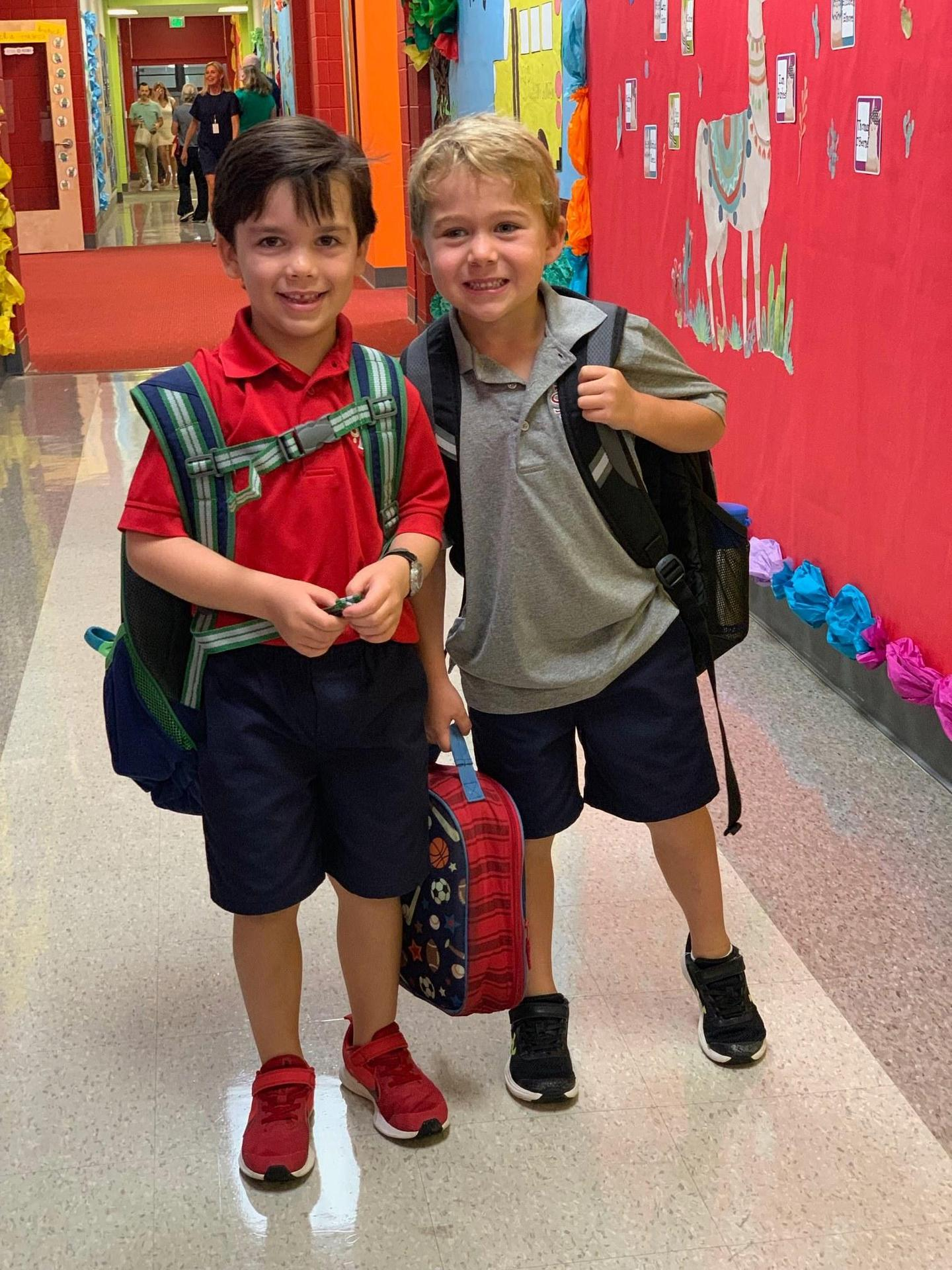 Two elementary students