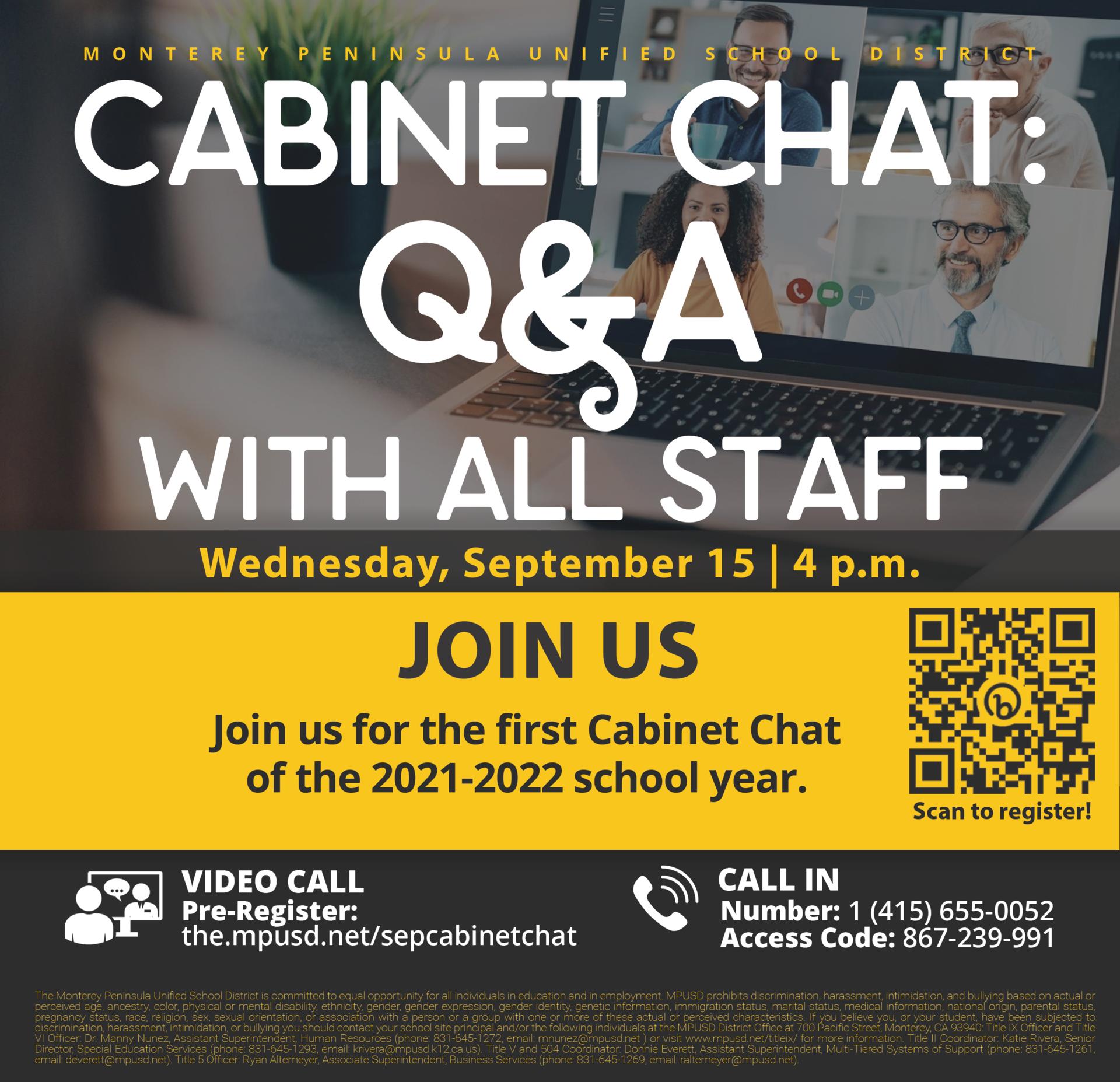 Cabinet Chat September 15