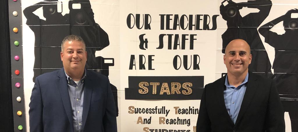 Principal Rivera with VP Ferrante on Back to School Night