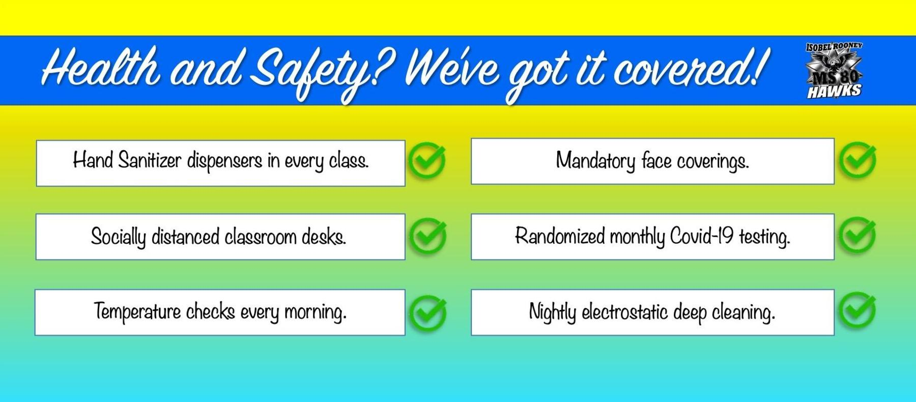 Health and safety web banner.