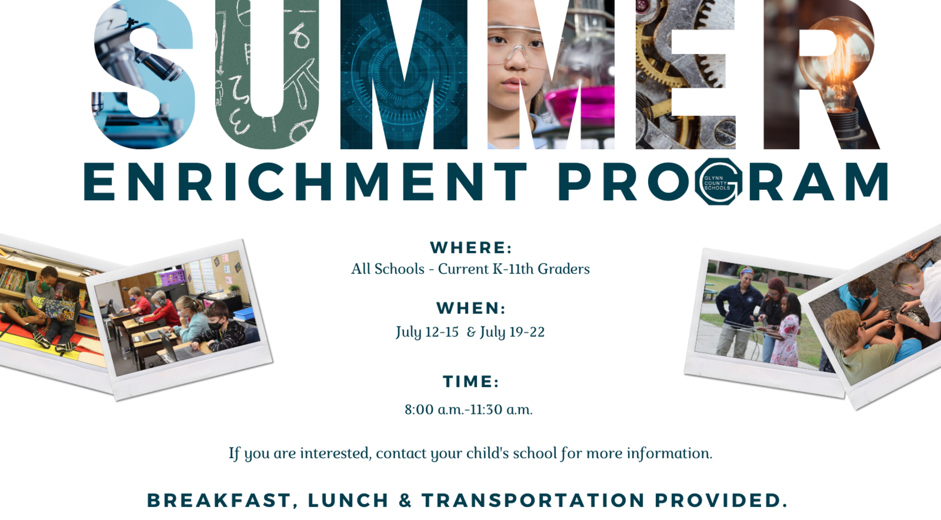 Summer Enrichment Program Graphic