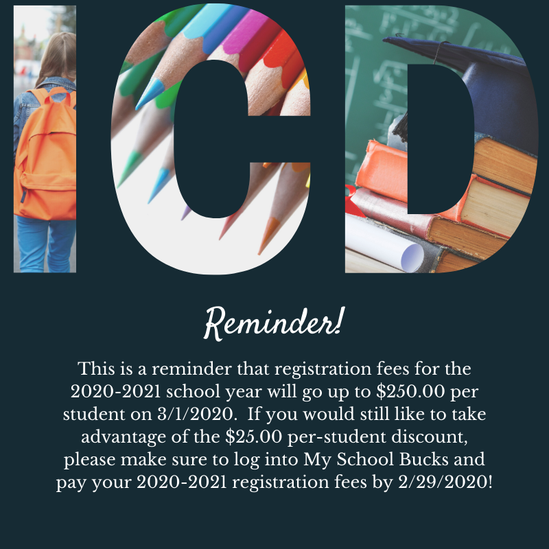 20/21 Registration Fees Featured Photo