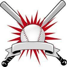 clipart of baseball bats and a ball