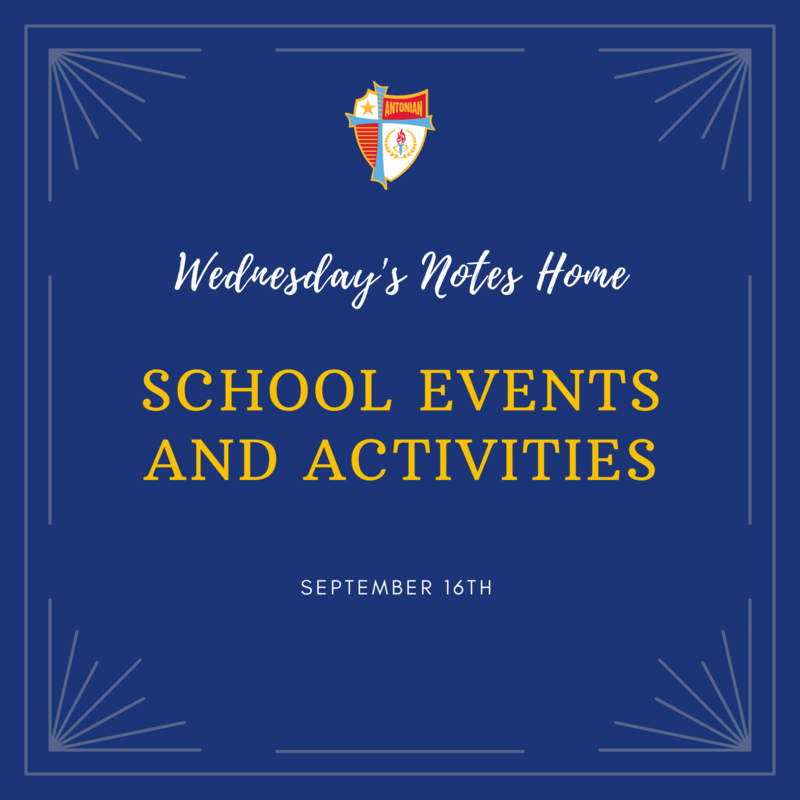 September 16th | School Events and Activities Featured Photo