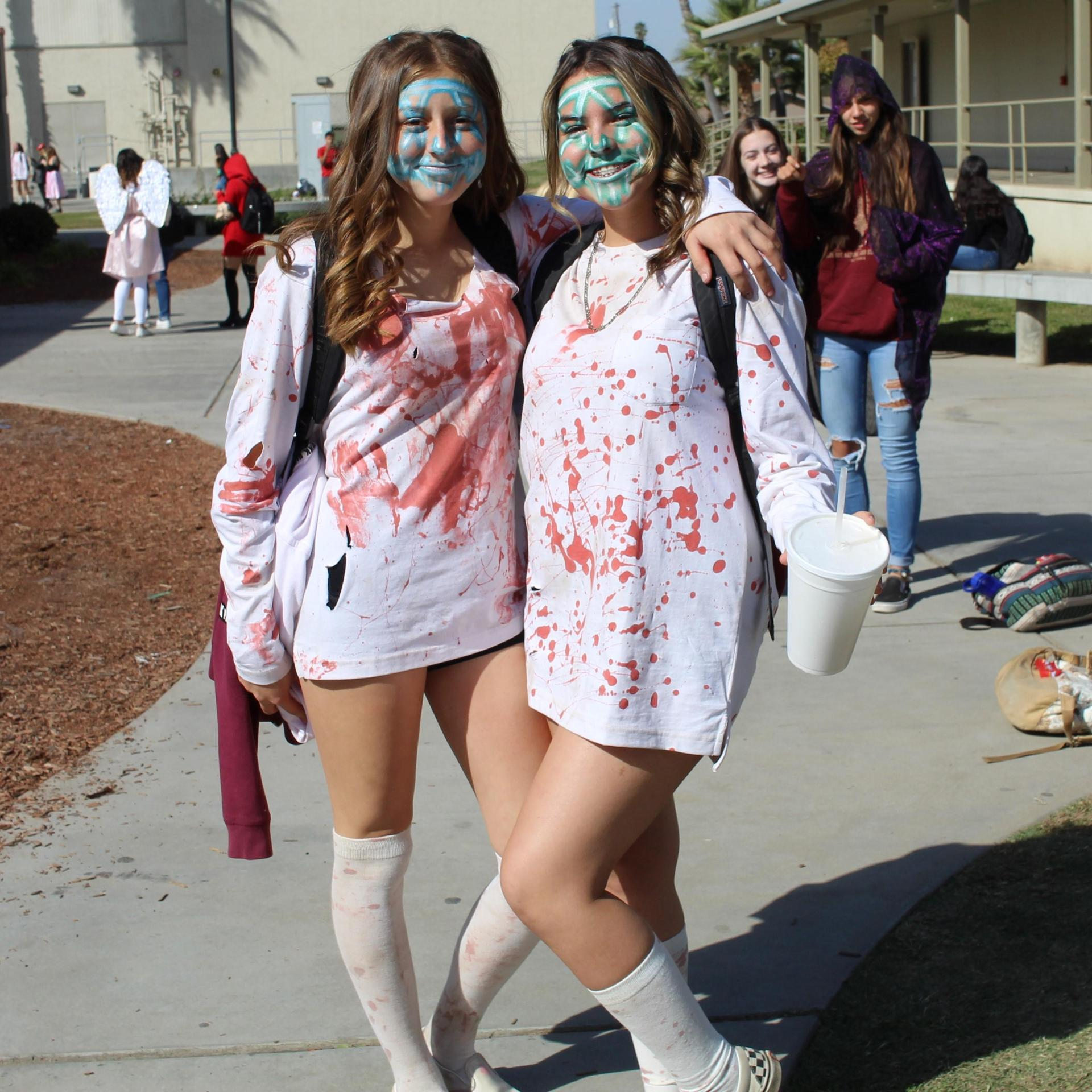 Evelen Sanchez and Madalyn Etharidge as purge with Lilly Sandlin and Josephine Moore