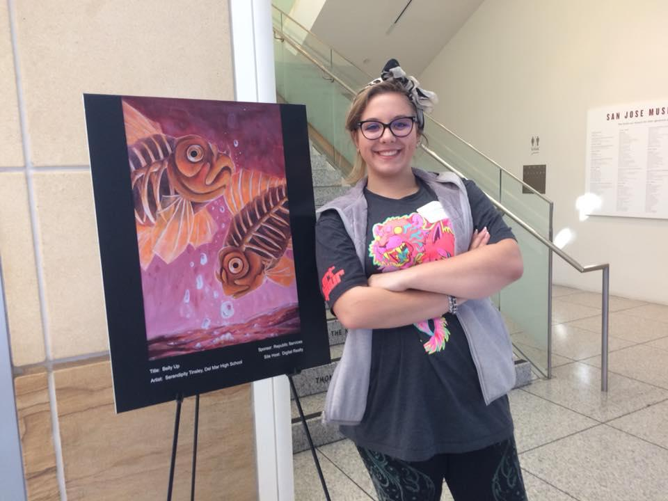 Photo of Del Mar Student, Serendipity, honored at the 15th Annual Downtown Doors Reception at the San Jose Museum of Art