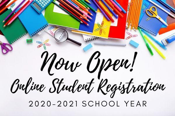 2020-2021 Student Registration Now Open! Click Here For More Information!! Featured Photo