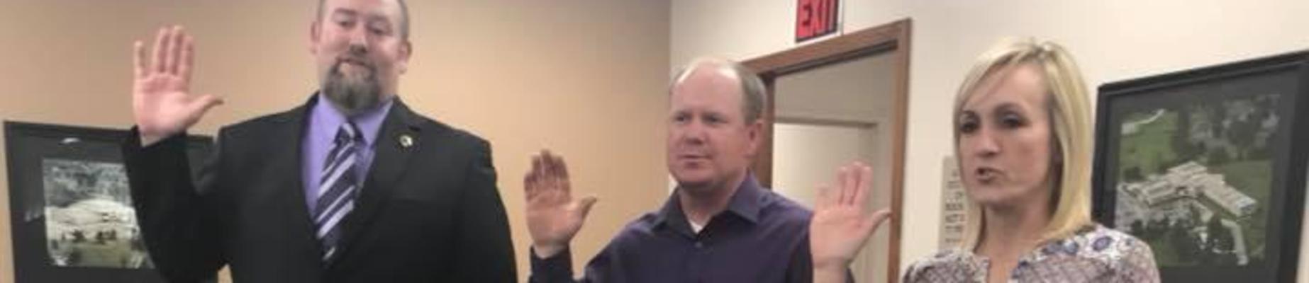 Board members take Oath of Office