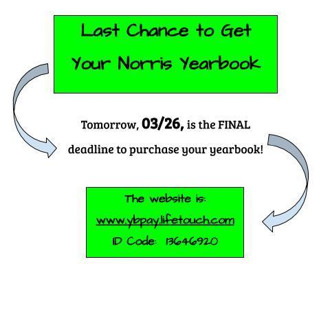 Last Call for Yearbook Orders! Thumbnail Image