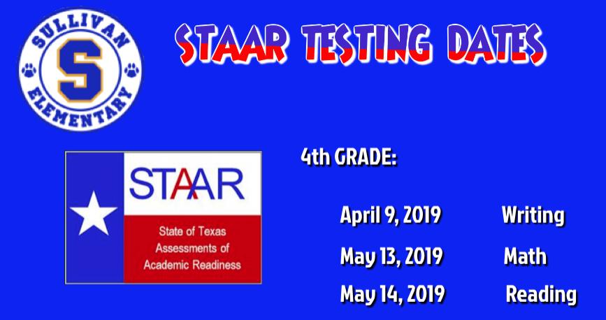 4th testing dates