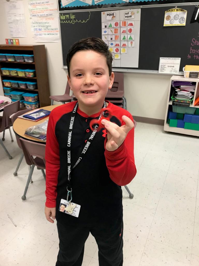 won a fidget spinner for winning math tournament