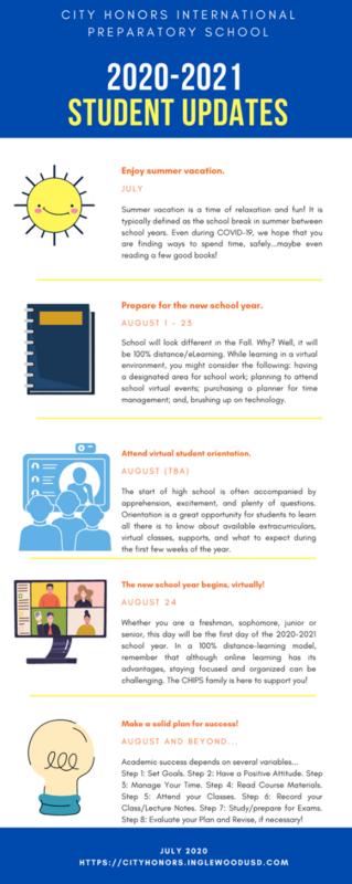 2020-2021 Student Updates Infographic