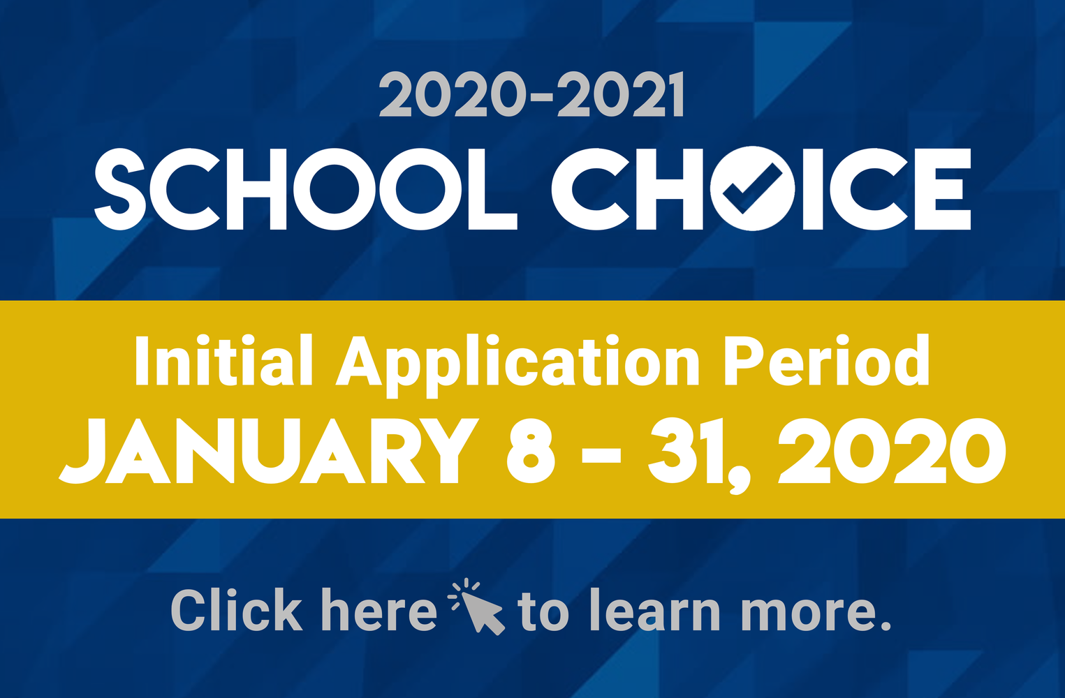 School Choice banner with information regarding PYLUSD application.