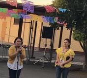 Day of the Dead 2018 Celebration // Celebrando Dia de los Muertos 2018  Principal Bocage (right) and Susana Peinado, Outreach Facilitator (left)