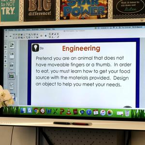 STEM Engineering Lesson on SMART Board