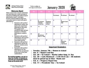 Jan. Calendar