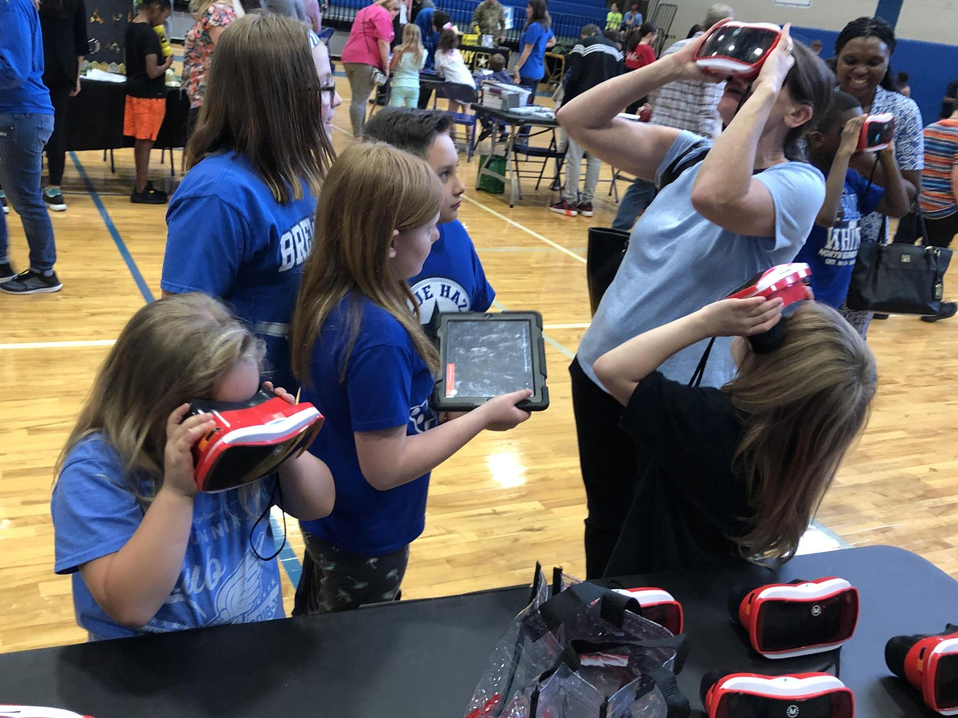 Virtual Reality demonstrated at BearBytes Tech Expo.