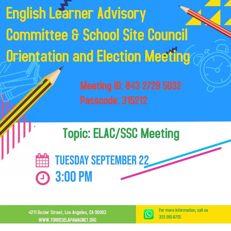 English Learner Advisory Committee & School Site Council  Orientation and Election Meeting Featured Photo