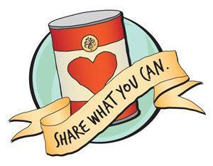 A can that says share what you can
