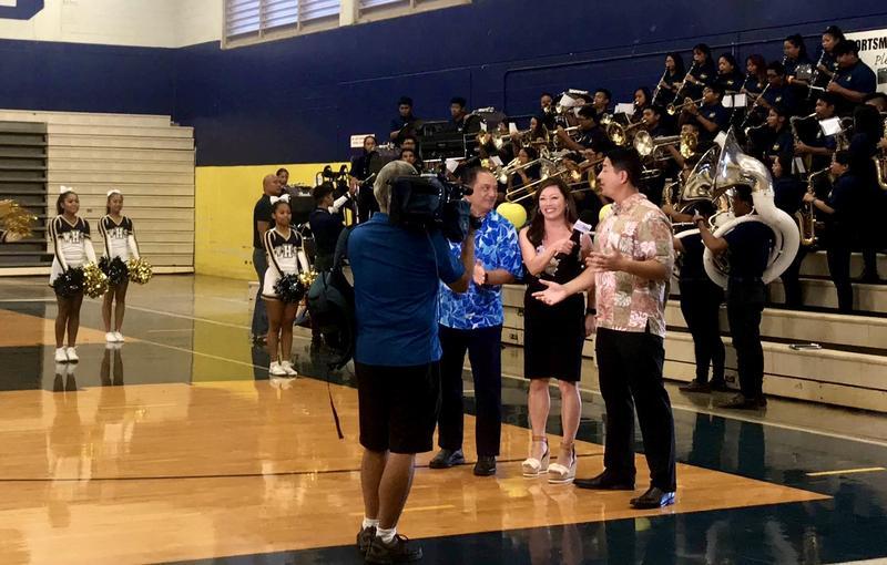 Hawaii News Now Hosts at Waipahu High School's Gym