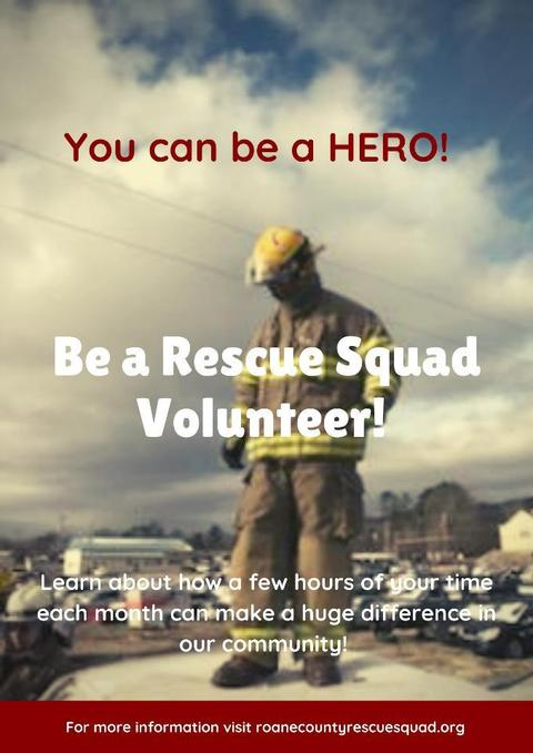 Roane County Rescue Squad Volunteer!
