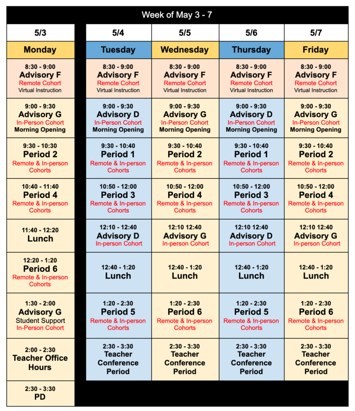 PHMS Bell Schedule Featured Photo