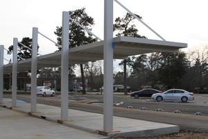 LJH covered Student Drop-Off Area, rear view