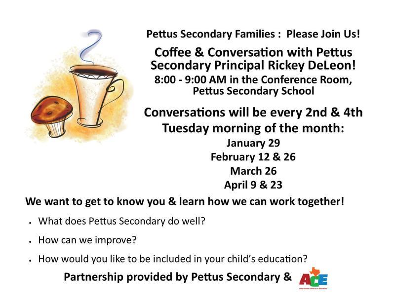Coffee & Conversation with Pettus Secondary Principal, Rickey DeLeon! Featured Photo