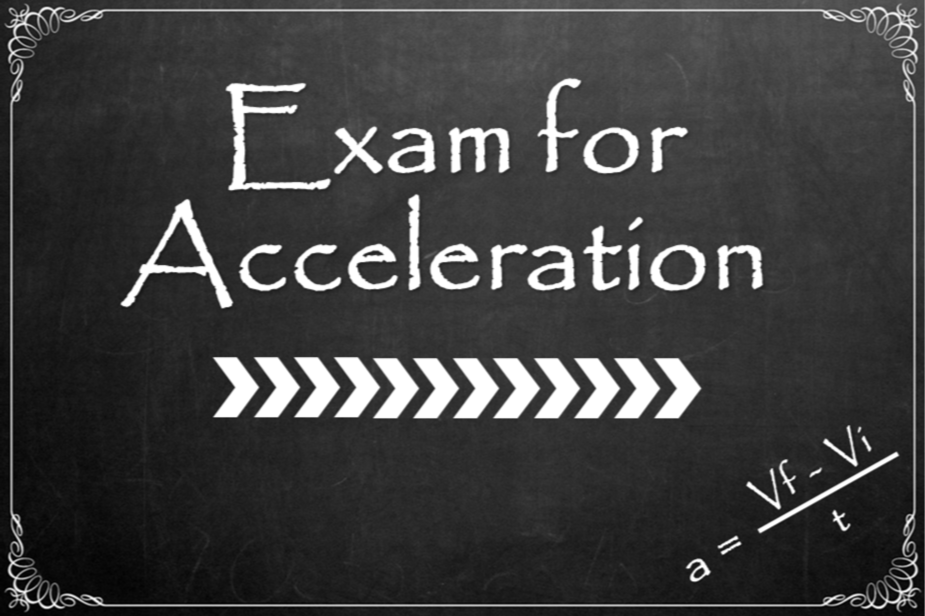 exam for acceleration graphic