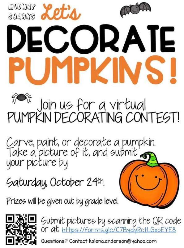 Pumpkin decorating flyer