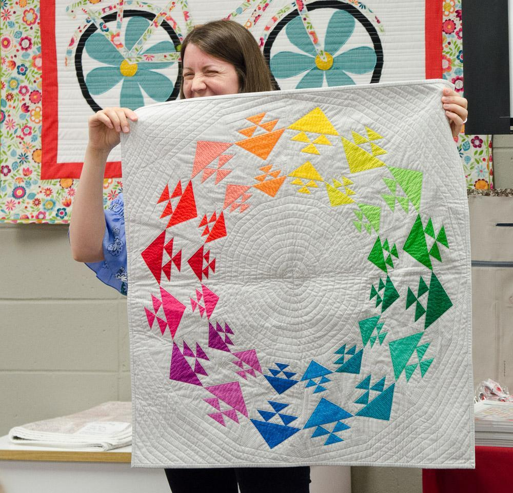 Cheryl Brickey color wheel quilt