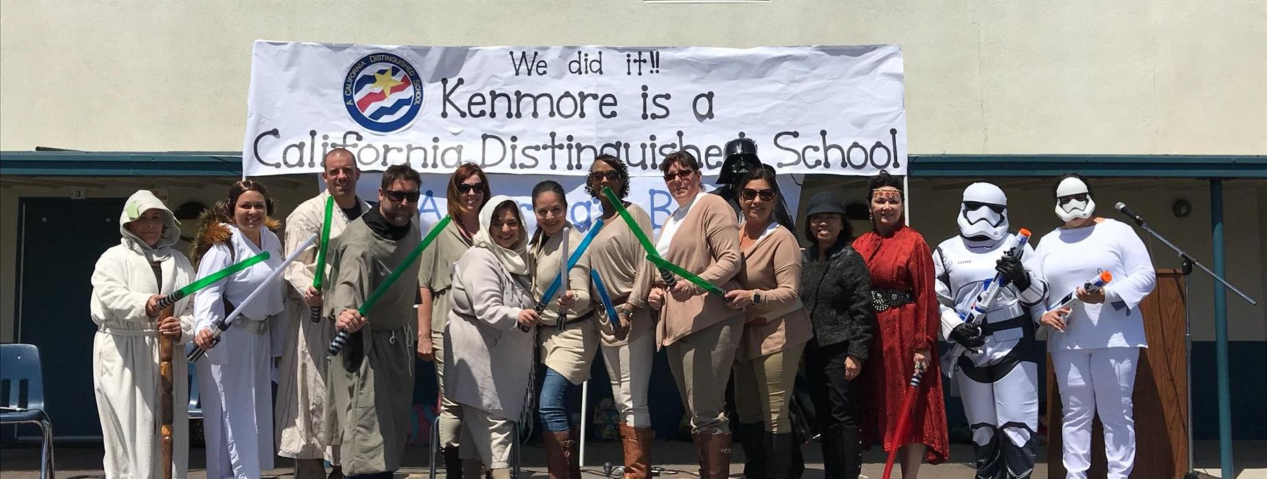 Kenmore staff in Star Wars costumes
