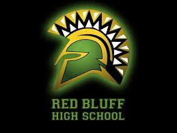 Red Bluff High School Logo with Text
