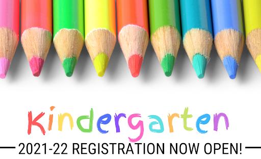 Kindergarten Registration for Fall 2021 Thumbnail Image