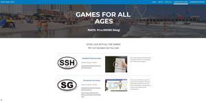 Screenshot of virtual Math Night activities