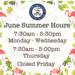 VISD summer hours flyer