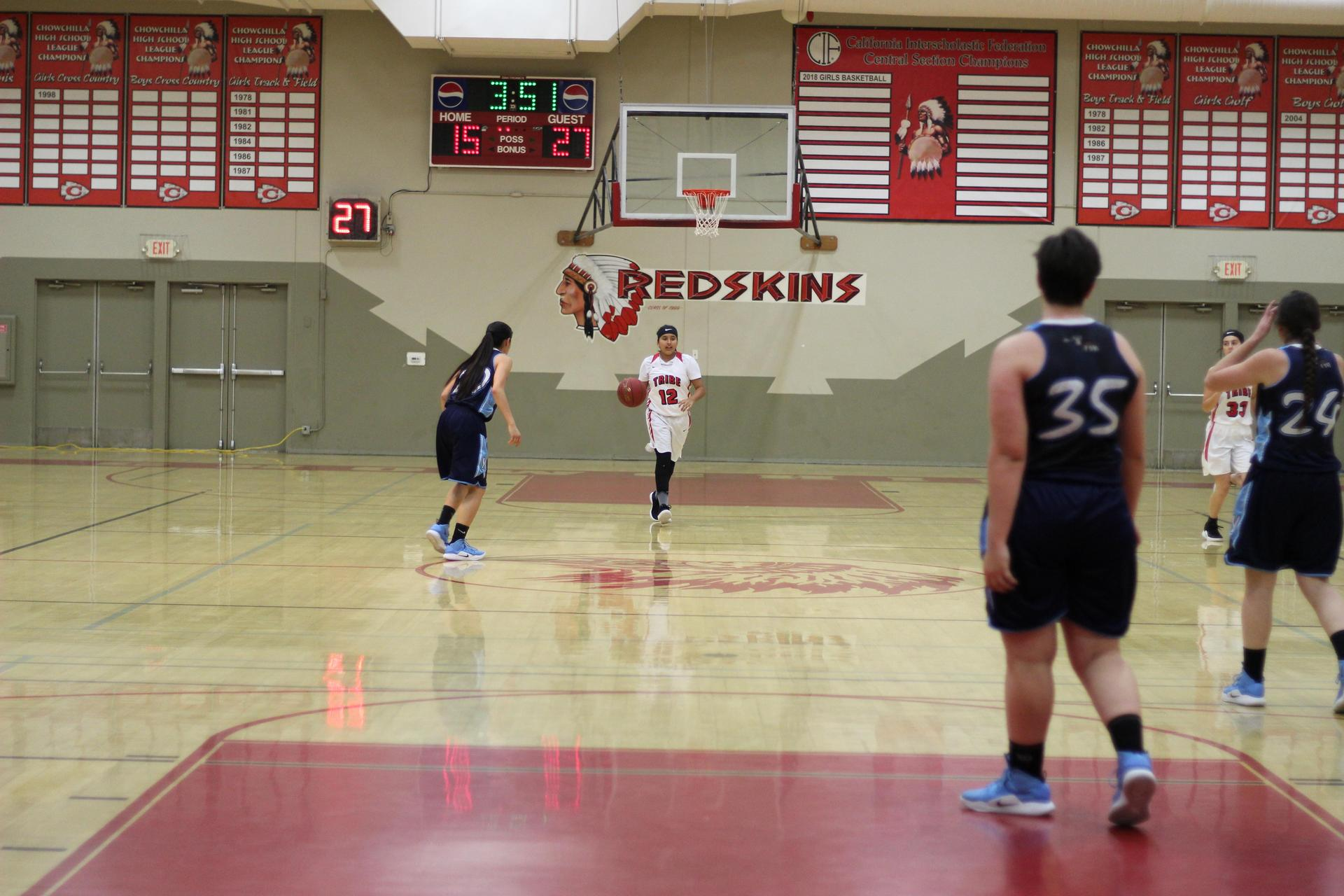 Chowchilla High Athletes at Basketball Game vs Yosemite