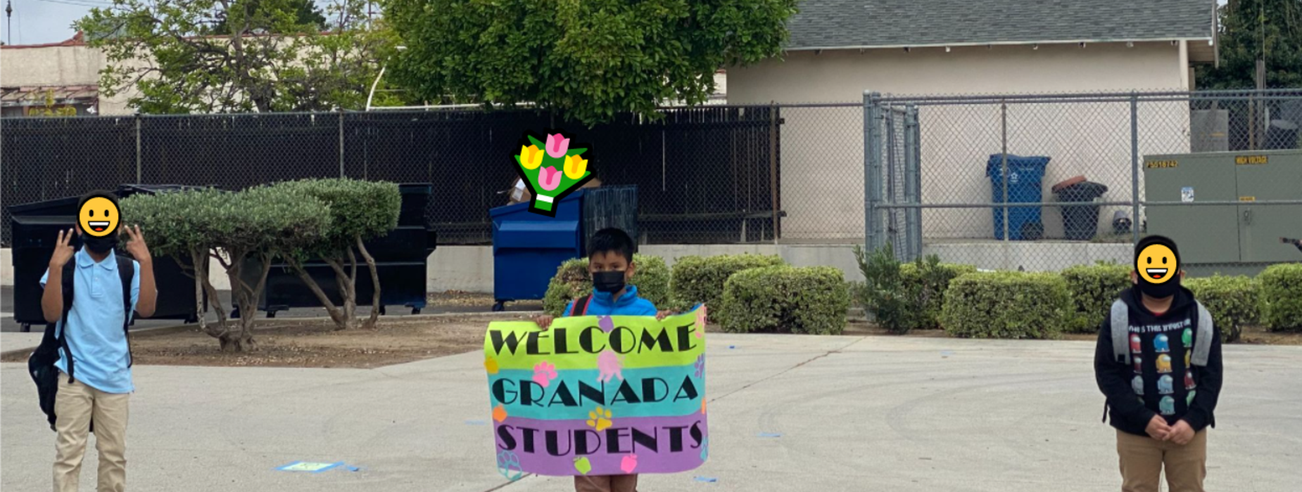 Granada students welcomed back for in-person learning