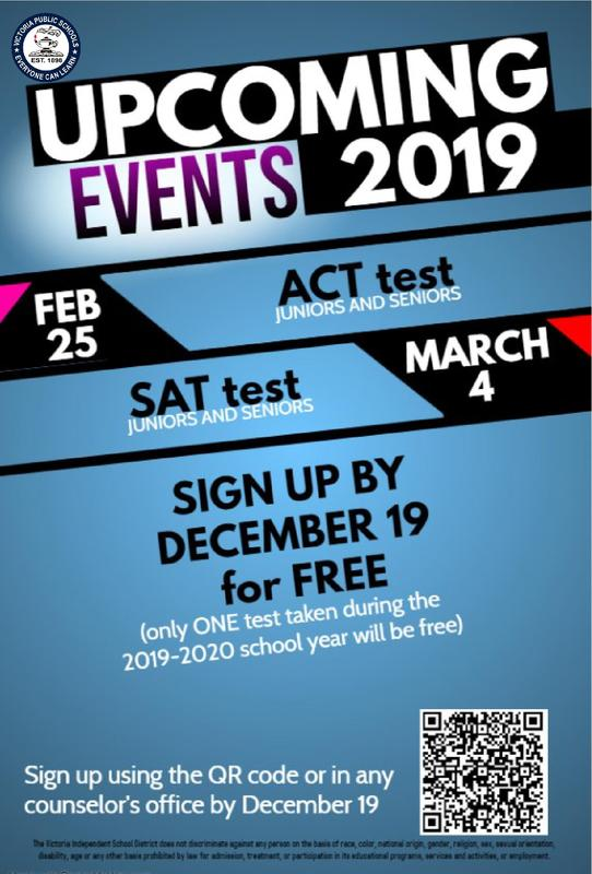 FREE ACT and SAT Test Available for Juniors and Seniors Thumbnail Image