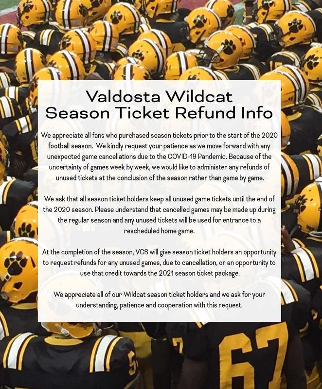 Wildcat Season Ticket Refund Info