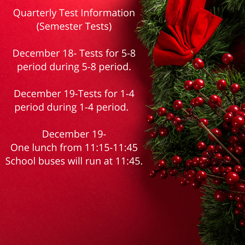 Quarterly tests